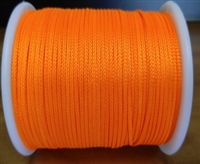 Plumb Bob Cord - Bright Orange, 50 yard spool, 100% Polyester, braided